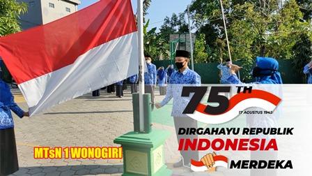 Upacara HUT Republik Indonesia Ke-75, Tanpa Siswa.