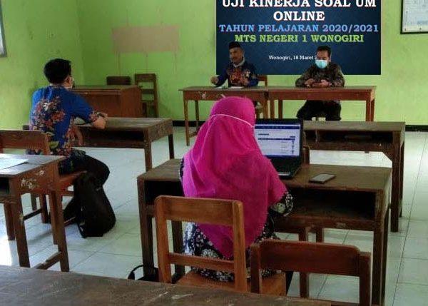 Uji Kinerja Soal UM Online Tahun Pelajaran 2020/2021 di MTsN 1 Wonogiri